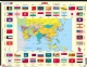 Map of Asia With Flags- Frame/Board Jigsaw Puzzle 29cm x 37cm (LRS  KL2-GB)